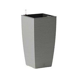 Кашпо квадрат. высок. CASA COSY 30*31*58 с систем. полива пыльно-серый (dusty grey) 14,8л