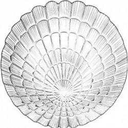 Тарелка 240мм 1шт. АТЛАНТИС (закал. стекло)