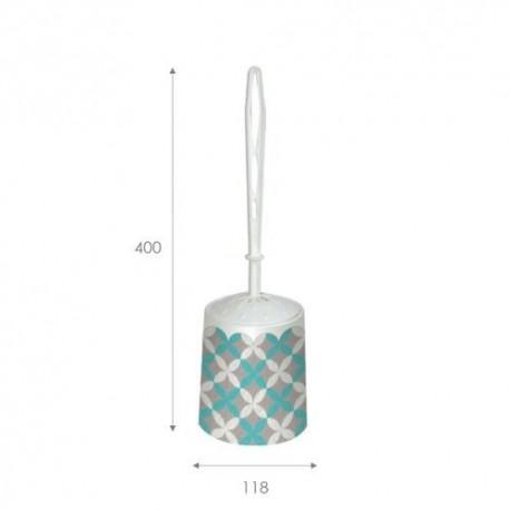 Набор для WC (ёрш+подставка) круглый с декором Сканди
