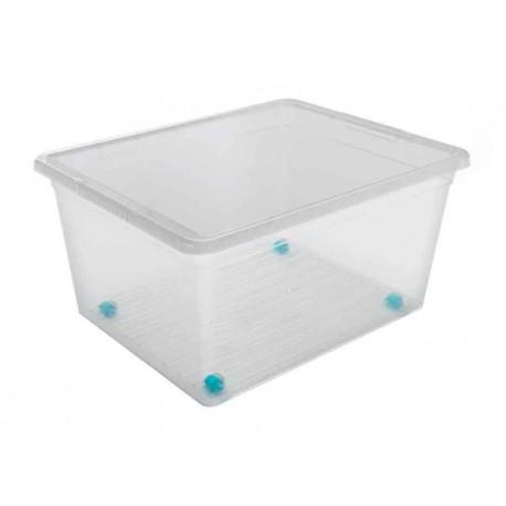 Ящик для хранения с крышкой  на колесах 37л Basic 490х390х276мм