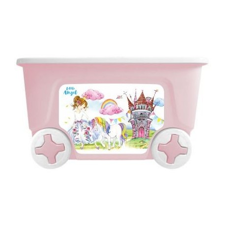 Детский ящик для игрушек COOL Сказочная принцесса на колесах 50 литров