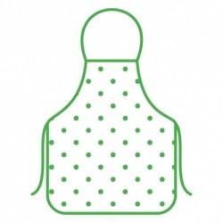 Фартук Горошек 52*72см (зелен.)