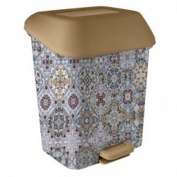 Контейнер для мусора с педалью  15 л Декор Марокко