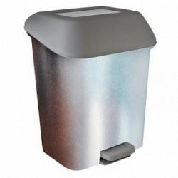 Контейнер для мусора с педалью  15 л декор Металл