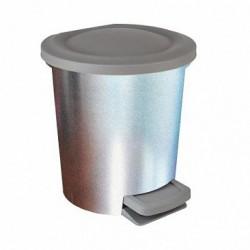 Контейнер для мусора с педалью  6 л декор  Металл