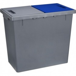 Контейнер для мусора 2-х секционный 290x490x420 мм