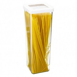 Ёмкость для сыпучих продуктов СТЕП 10×10×28 см белый 1,9л.