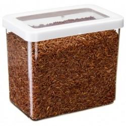 Ёмкость для сыпучих продуктов СТЕП 16×10×14 см белый 1,7л.