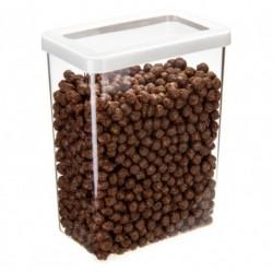 Ёмкость для сыпучих продуктов СТЕП 16×10×21 см белый 2,5л.