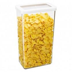 Ёмкость для сыпучих продуктов СТЕП 16×10×28 см белый 3,2л.