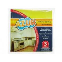 Салфетка губчатая  Миди AZUR 3шт. (14х14 см)