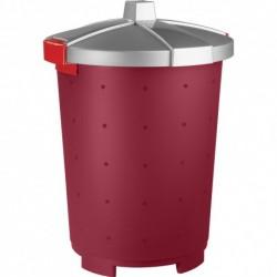 Контейнер для корма LUCKY PET 45л (Бордовый)