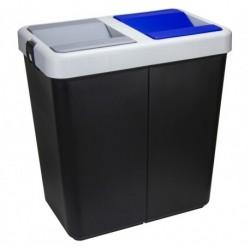 Контейнер для мусора двойной 70 л (35 + 35 л) 340x550x575мм